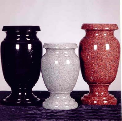 Granite Aluminum Bronze Vases Cremation Urns Solar Candles